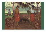 Raro Te Ouiri Art by Paul Gauguin