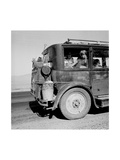 Drought Refugees Migrate by Car Posters by Dorothea Lange