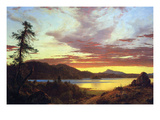 A Sunset Print by Frederic Edwin Church