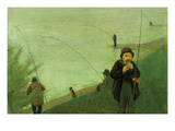 Anglers on the Rhine Poster by August Macke
