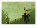 Anglers on the Rhine Print by August Macke