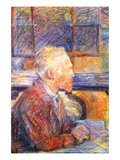 Portrait of Van Gogh Plakat av Henri de Toulouse-Lautrec