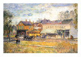 End of the Tram, Oak Park, Illinois Prints by Childe Hassam