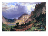 Storm in the Rockies, Mt. Rosalie Premium Giclee Print by Albert Bierstadt