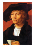 Portrait of a Young Man 3 Prints by Albrecht Dürer