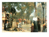 Parisian Street Scene [1] Prints by Childe Hassam