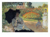 Camille in the Garden with Jean and His Nanny Posters by Claude Monet