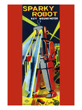 Sparky Robot Premium Giclee Print