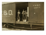 3 Boys in Box Car Print