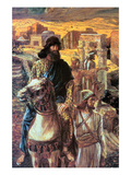 Nehemiah Sees the Rubble in Jerusalem Poster by James Tissot