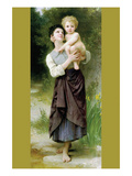 Brother and Sister Prints by William Adolphe Bouguereau