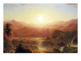 The Andes of Ecuador Detail Poster by Frederic Edwin Church