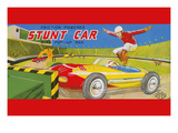 Friction Powered Stunt Car Poster