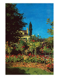 Garden in Bloom at Saint-Adresse Prints by Claude Monet