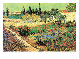 Flowering Garden Posters by Vincent van Gogh