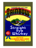 Rainbow Straight Rye Whiskey Posters