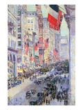 The Avenue Along 34th Street, May 1917 Print by Childe Hassam