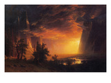 Sunrise in Yosemite Valley Art by Albert Bierstadt