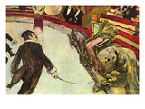 In the Circus Poster by Henri de Toulouse-Lautrec