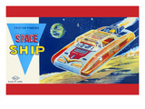 Friction Powered Space Ship Ss-18 Premium Giclee Print