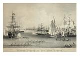 Summer Scenes in New York Harbor Prints