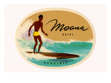 Moana Hotel Luggage Label Affiches