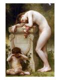 Elegy Premium Giclee Print by William Adolphe Bouguereau