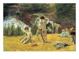 Bathing in the Mill of Bois D'Amour Premium Giclee Print by Paul Gauguin