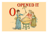 O - Opened It Art by Kate Greenaway