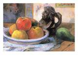 Still Life with Apples, Pears and Krag Poster by Paul Gauguin