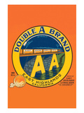 Double a Brand Oranges Art by  Western Lithograph Co