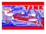 Planet Patrol Sparkling Space Tank Art