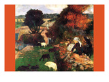 Breton Shepherds Premium Giclee Print by Paul Gauguin