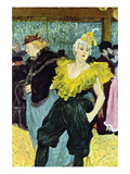 The Clowness Lminas por Henri de Toulouse-Lautrec