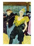 The Clowness Lámina giclée prémium por Henri de Toulouse-Lautrec