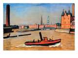 The Port of Humburg Premium Giclee Print by Albert Marquet
