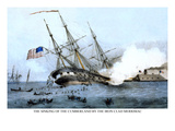 The Sinking of the Cumberland at the Battle of Hampton Roads, Virginia Prints
