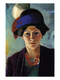 Portrait of the Wife of the Artist with a Hat Posters by Auguste Macke