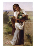 At the Fountain Poster par William Adolphe Bouguereau