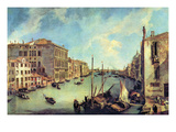 Grand Canal at San Vio Poster by  Canaletto