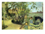 Garden in Rue Carcel Prints by Paul Gauguin