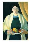 Portrait with Apples (Portrait of the Wife of the Artist) Prints by Auguste Macke