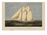 "The Yacht ""Sappho"" of New York Print"