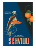 Servido Selected Oranges Prints by  Machirart