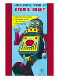 Mechanical Wind-Up Atomic Robot Poster