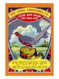 Yick Loong Silver Bird Brand Firecracker Prints