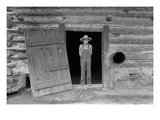 Farm Boy in Doorway of Tobacco Barn Posters by Dorothea Lange