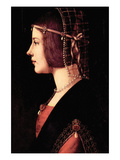 Lady Beatrice D'Este Prints by  Leonardo da Vinci