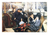 The Last Evening Print by James Tissot