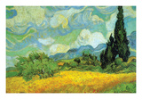 Cypresses Prints by Vincent van Gogh